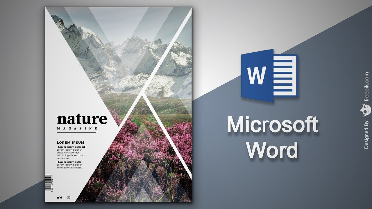 Create Cover Page In Microsoft Word Natural Magazine Cover Designing In Ms Word Youtube