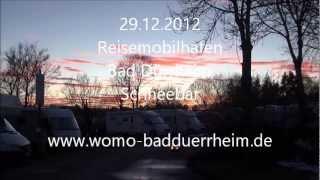 29.12.2012 Reisemobilhafen Bad Dürrheim Schneebar