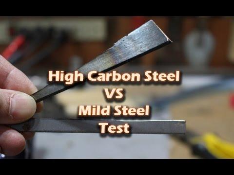 high carbon steel vs mild steel test youtube
