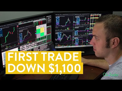 [LIVE] Day Trading | Losing $1,100 on My First Trade (day trader life…)