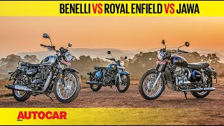 Benelli Imperiale 400 vs Jawa Forty Two vs Royal Enfield Classic 350 | Comparison | Autocar India