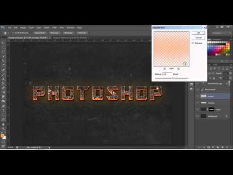 Adobe Photoshop CS5-Text effect-Fire Text Effect Photoshop ...