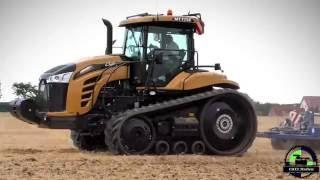 Challenger MT 775 E Raupenschlepper mit Köckerling Vario Grubber bei der Bodenbearbeitung 2016