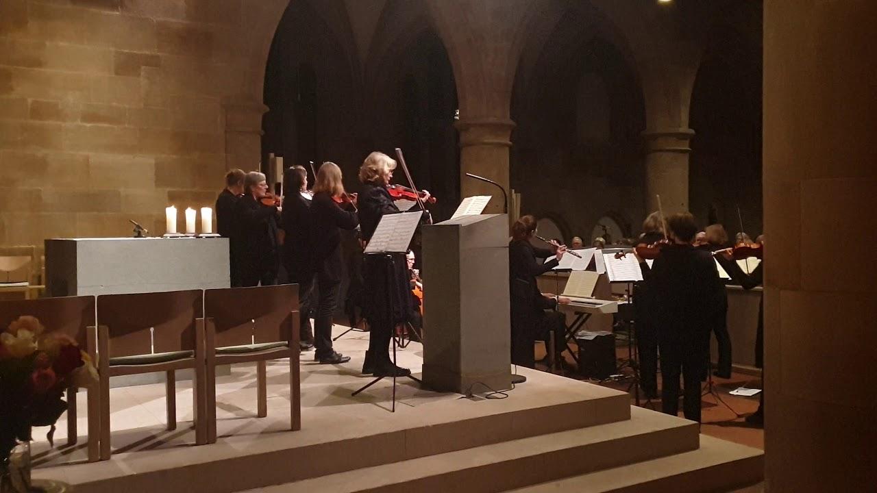 Krippe im Münster St Paul Esslingen 2020 während des Neujahrskonzert (Klassik Brandenburgisches)