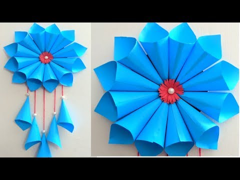 DIY PAPER WALL HANGING CRAFTS// ROOM DECORATION IDEAS //DIY ART AND CRAFT