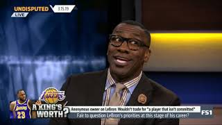 UNDISPUTED on FS1   Shannon on Fair to question LeBron's priorities at this stage of his career?