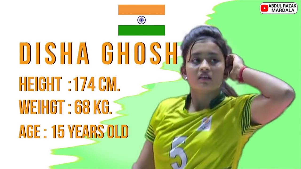 The 15 Year Old Young Talent Of India Volley Disha Ghosh Youtube