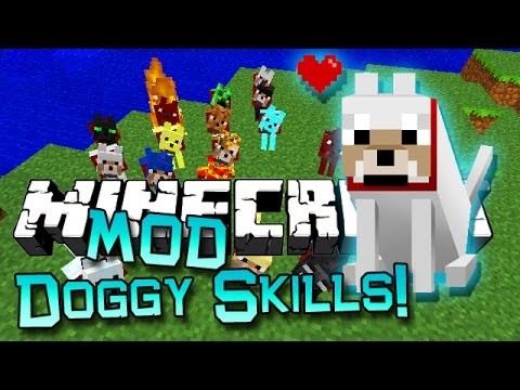 "minecraft-""doggy-talents""-mod!-(new-dog/wolf-skills,-collars,-attacks)-mod-showcase"