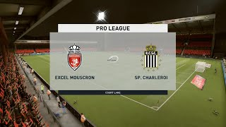 A simulation of the upcoming match in belgian pro league, mouscron vs royal charleroi. charleroi - league (27/09/2020) a...