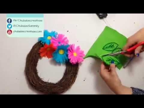 Chuladas creativas flores primaverales de papel - Youtube manualidades de papel ...