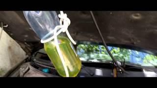 Чистка форсунок на приоре лавром 101, разорвало бутыль с промывкой.