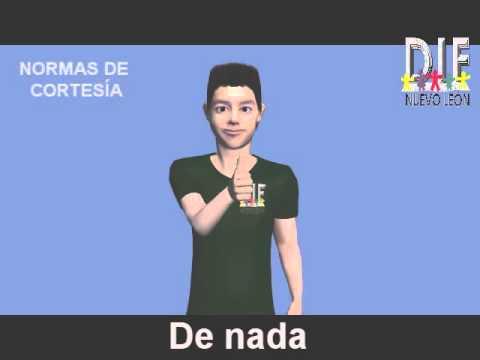 TEMA 3: NORMAS DE CORTESÍA Diccionario Español-LSM - YouTube View ...