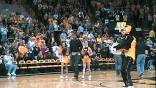 Adrian Clayborn and 2010 Orange Bowl Team Honored Halftime of Ohio State at Iowa Game 1/27/2010