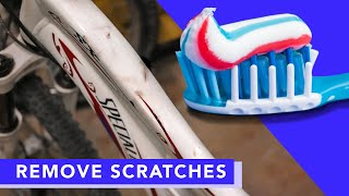 EASY way to remove Paint Scratches with TOOTHPASTE on bikes l DIY Paint Scratch Removal