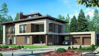 Проект дома 2020 в стиле минимализм, строительство дома 350 кв.м | Дом Минимализм проект |  М-288
