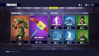 NEW SKINS (REX)/ DAILY AND WEEKLY FORTNITE SHOP/ 6.3.2018 #9