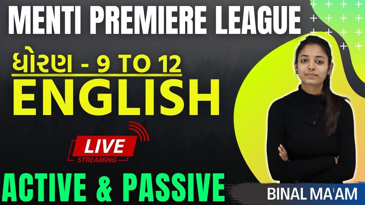 GSEB | STD 9 to 12 | Active - Passive Voice | Live Menti Quiz | By Binal Ma'am