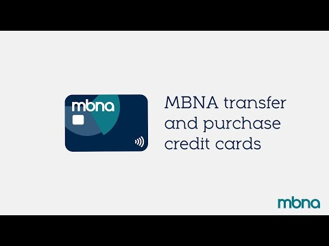 The Transfer And Purchases Credit Card | MBNA