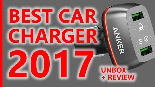THE BEST CAR CHARGER ANKER PowerDrive+ 2 Qualcomm 3.0 NEW 2017 UNBOXING REVIEW