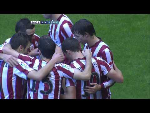La Liga | Gol de Óscar de Marcos (1-0) en el Athletic de Bilbao - Sevilla FC | 11-11-2012 | J11