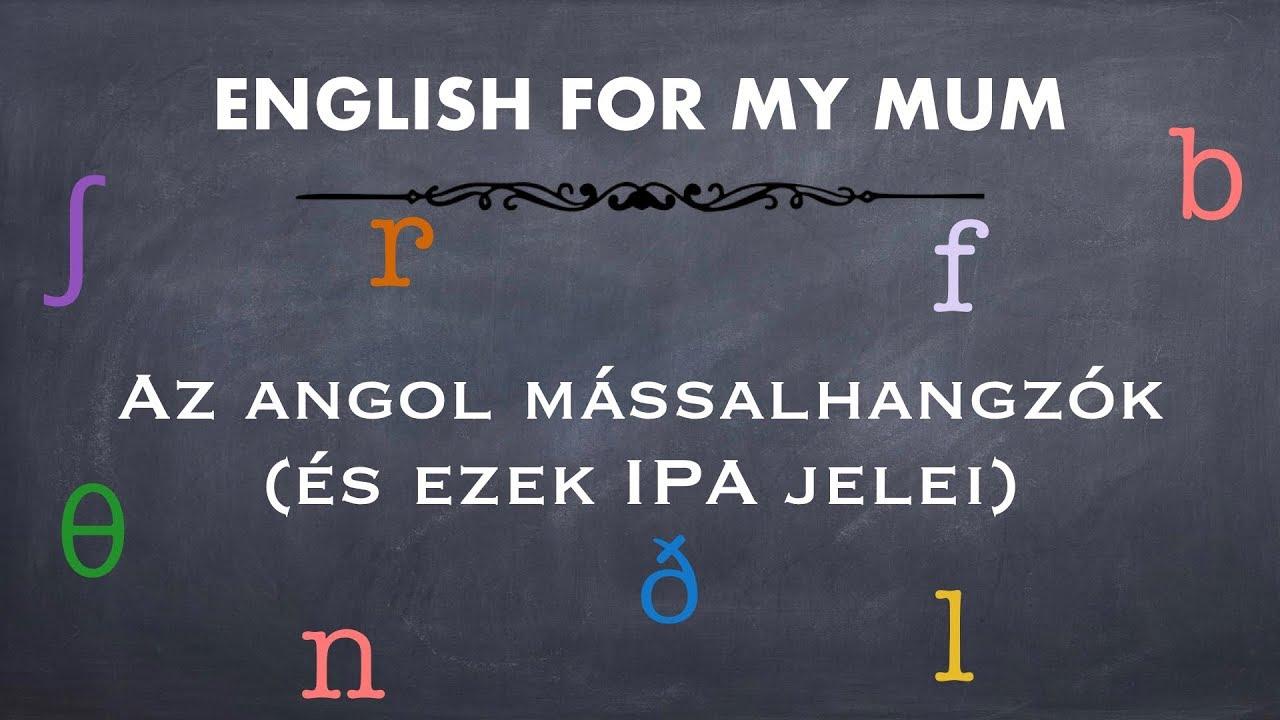 Mássalhangzók angolul