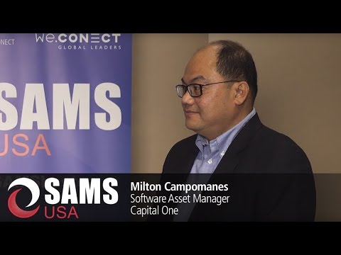 Software Asset Management Strategies: Interview with Milton Campomanes, Capital One
