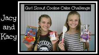 Girl Scout Cookie ~ Cake Challenge ~ Jacy and Kacy