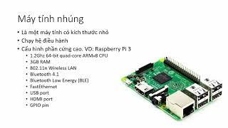 Máy tính nhúng Single Board computer trong hệ thống IoT