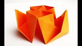 Как сделать кораблик из бумаги? Оригами пароход без клея и ножниц. Бумажные поделки для детей.