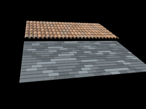 Sketchup - Fast 3D Roof Tiles and Shingles