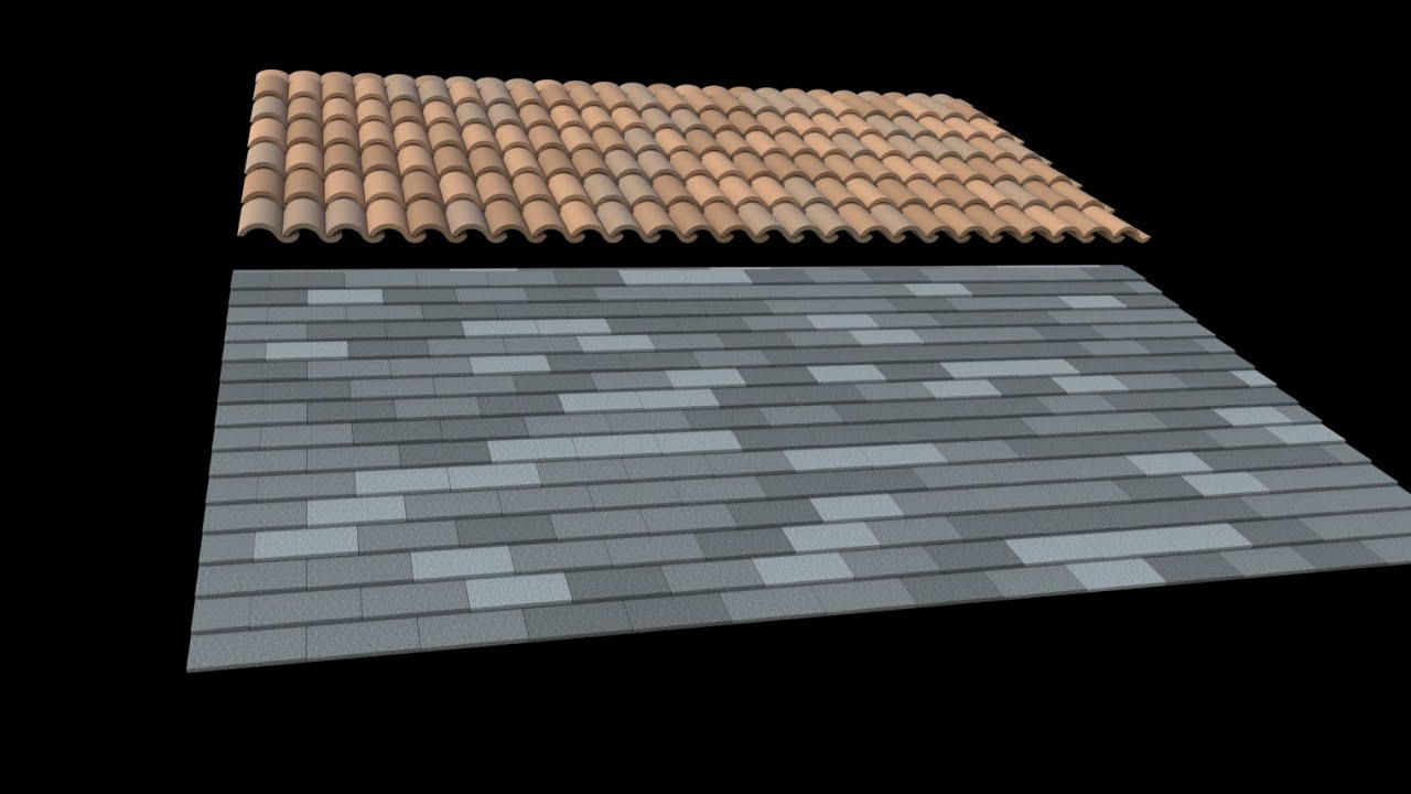 Sketchup Fast 3d Roof Tiles And Shingles Youtube