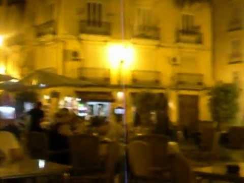 Dinner by nightlight in Valencia, Spain, with Bryan Adrian