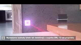 Nowoczesne oświetlenie schodów - laserowy czujnik odległości DRL-12 pełniący funkcję czujnika ruchu.