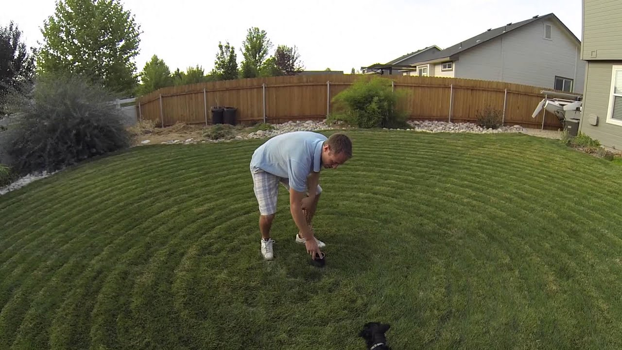 Lawn Mower On A Hill : Self mowing lawn mower youtube