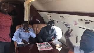 zylofon media ceo singing kumi guitars betweener in his private jet