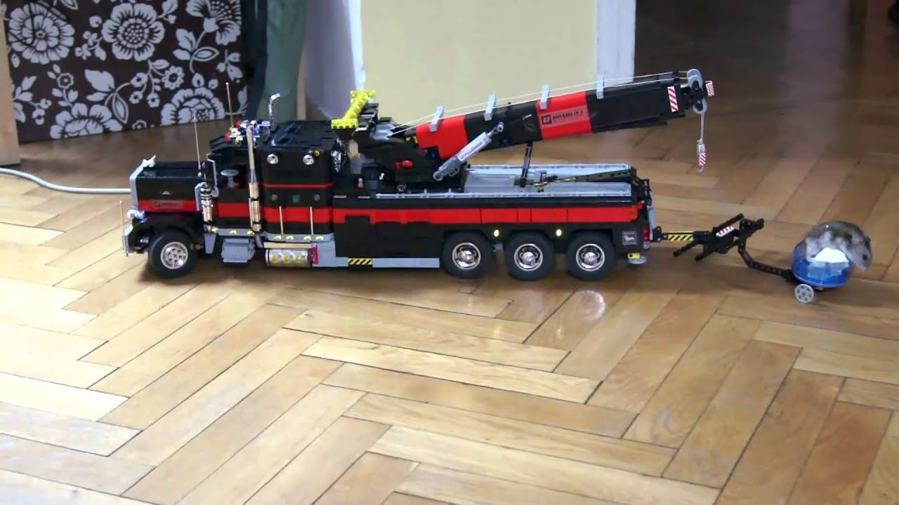 Toy Rotator Tow Truck >> Lego Motorized Tow Truck 2 HD Exterior Video - YouTube