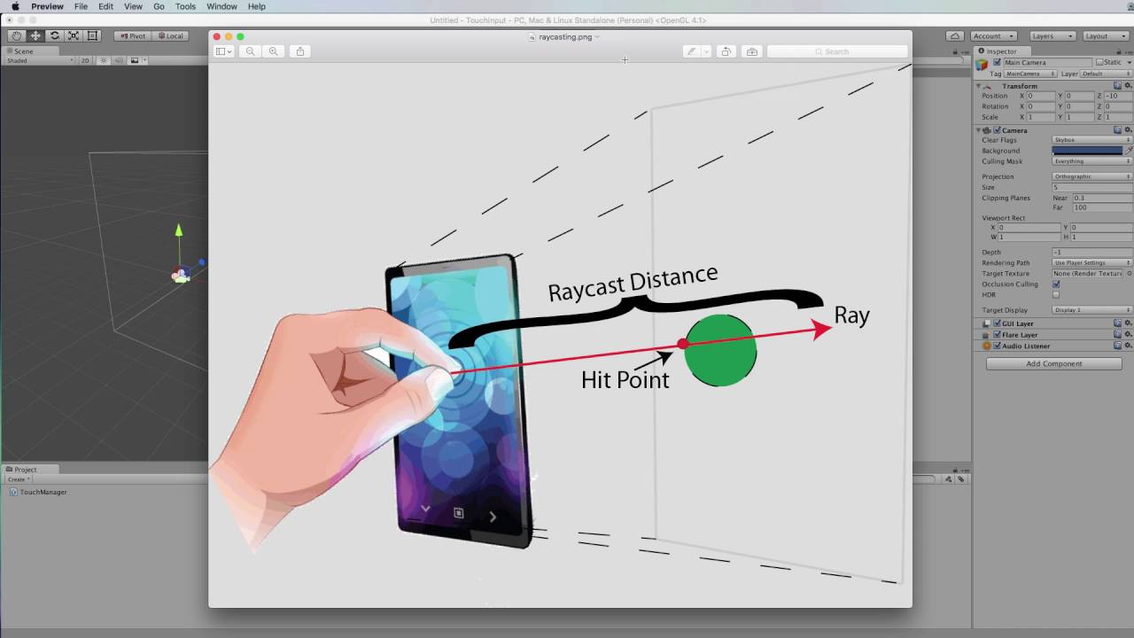 Unity Mobile Dev From Scratch: Understanding Screen and World Coordinates  for Raycasting