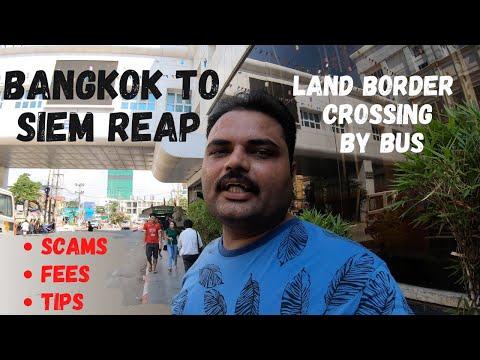 THAILAND - CAMBODIA LAND BORDER CROSSING | #PoioetBorder | Bangkok To Siem Reap By Bus