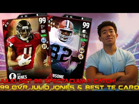 NEW 99 OVR JULIO JONES & BEST TE CARD OZZIE NEWSOME! MADDEN 17 ULTIMATE TEAM