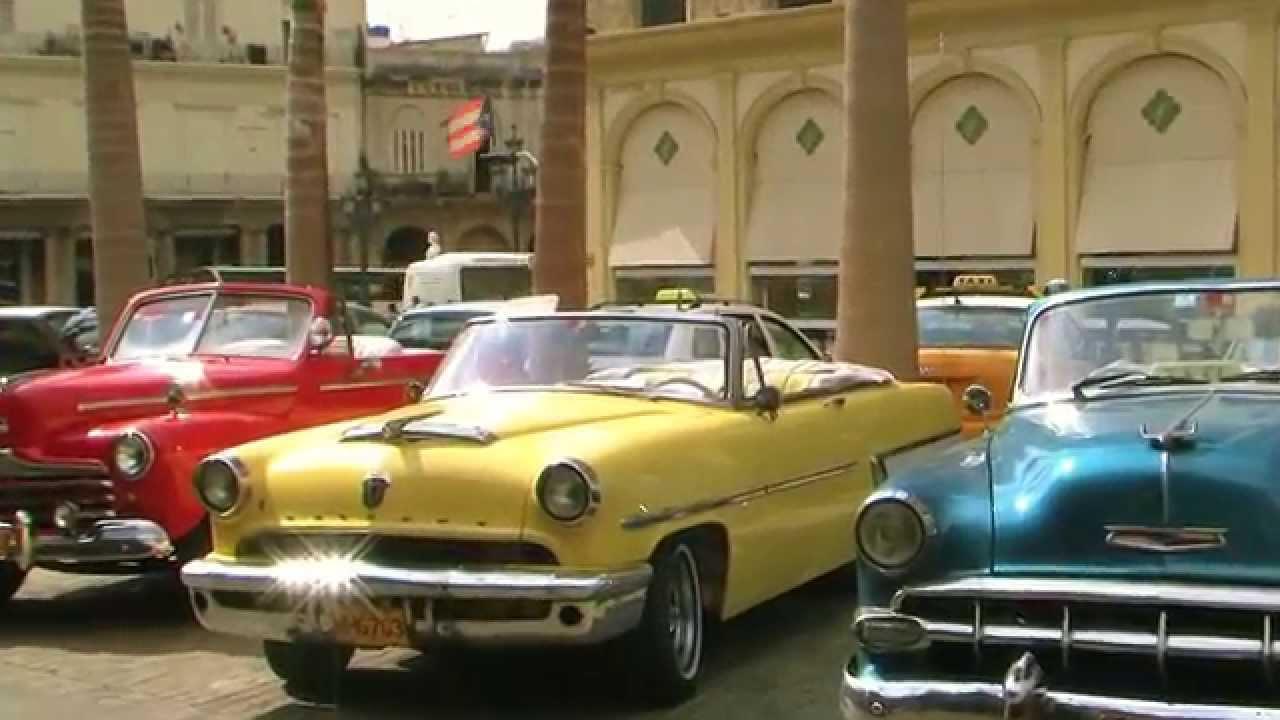 Habana Cuba Taxis De Alquiler Clasicos Autos Americanos Full Hd