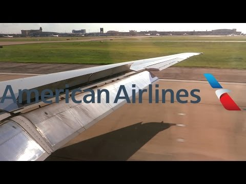 HD American Airlines MD-83 N570AA Landing at Dallas / Fort Worth International Airport