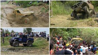 Смесь БТР и Тойоты, что то похожее на Ниву, заряженные УАЗы много грязи на джип спринт Понежукай 4х4