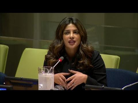Priyanka Chopra (UNICEF Goodwill Ambassador) on eliminating violence against women & girls
