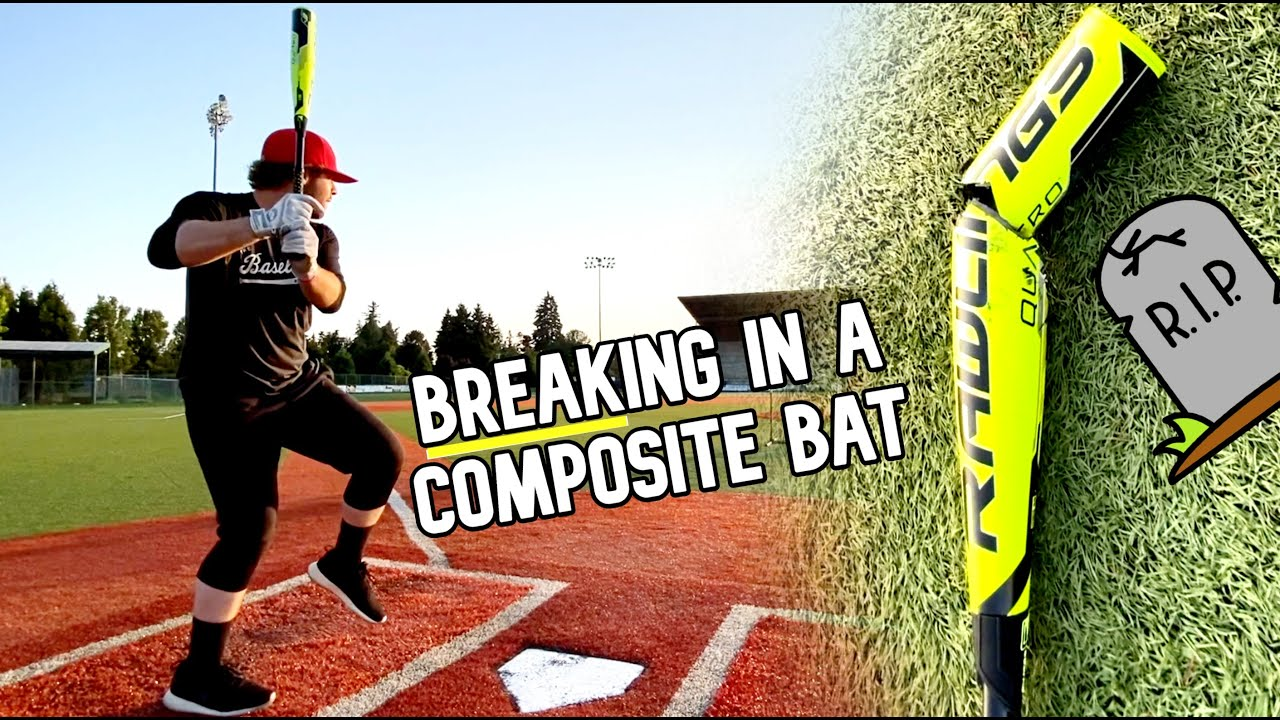 BREAKING IN A COMPOSITE BASEBALL BAT...gone wrong