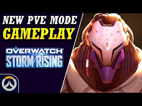 Overwatch - NEW Storm Rising PvE GAMEPLAY!  (New Archives 2019 Game Mode)