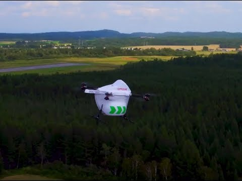 Drone Delivery Canada - BVLOS Flights in Alma Quebec - August 2018