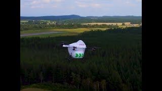 Drone Delivery Canada - BVLOS Flights in Alma Quebec - August 2018