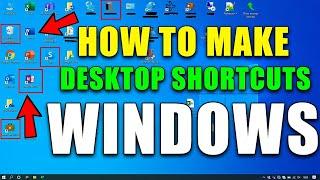 how to create app shortcut on desktop windows 7/8/8.1/10/vista