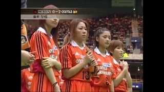 斉藤舞子アナ(6番)のラフプレーに注目.