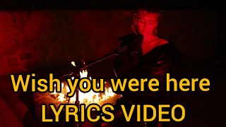 """Wish You Where Here"" Miley Cyrus cover Lyrics video-SNL"